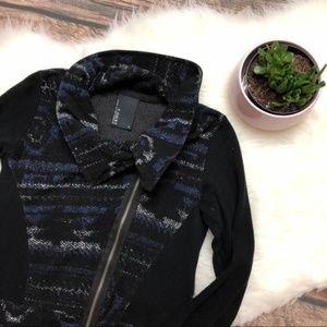 ANTHROPOLOGIE Rosa Moto Jacket Cardigan Nordic S1